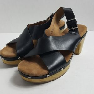 Clark's Artisan slingback leather heeled sandal